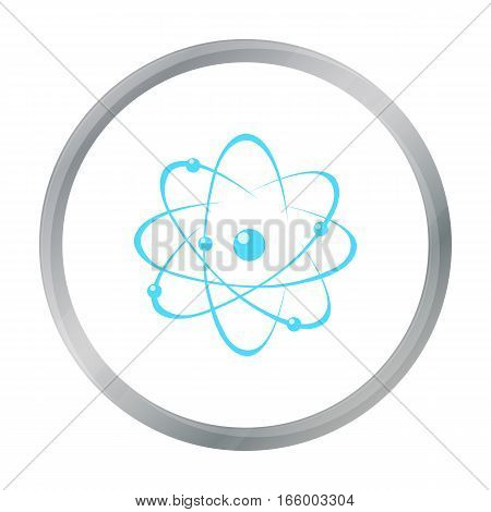 Atom icon cartoon. Single education icon from the big school, university cartoon. - stock vector