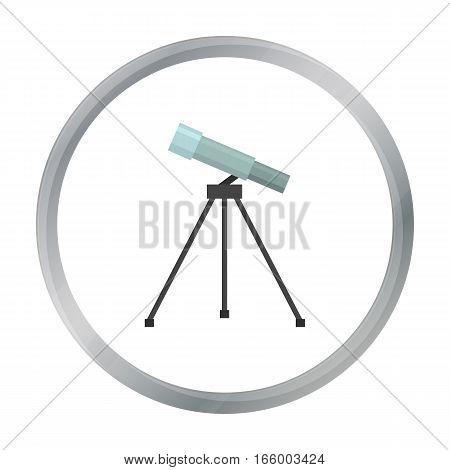 Telescope icon cartoon. Single education icon