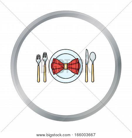 Restaurant table cartoon icon isolated on white background. Restaurant symbol vector illustration.