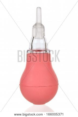 Nasal Aspirator Isolated On The White Background