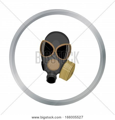 Gas masks icon cartoon.Single weapon icon from the big ammunition, arms cartoon.