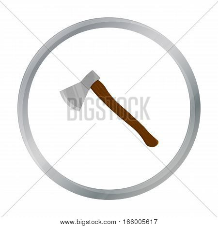Axe icon cartoon. Single weapon icon from the big ammunition, arms cartoon. - stock vector
