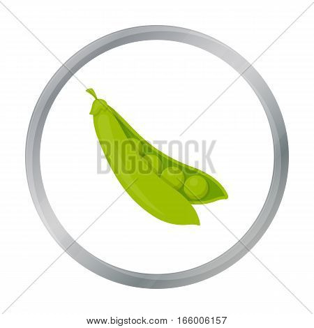 Peas icon cartoon. Singe vegetables icon from the eco food cartoon.