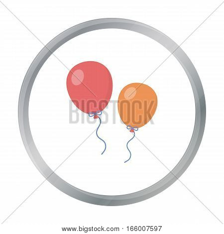 Balloon cartoon icon. Illustration for web and mobile. - stock vector