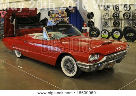 1964 Thunder bird classic car shown at the world of wheels auto show on January 20th to the 22nd in Pittsburgh PA