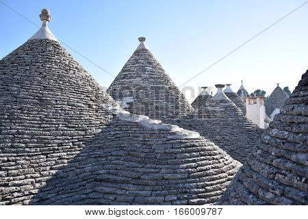 The traditional conical roof of