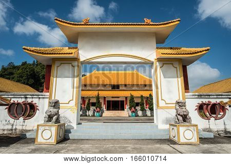 The Chinese soldier museum on Doi Mae Salong mountain of Chiangrai province of Thailand.