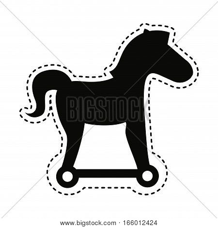 trojan horse silhouette isolated icon vector illustration design