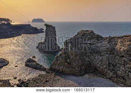 Jeju-do Oedolgae Rock Jeju Island South Korea