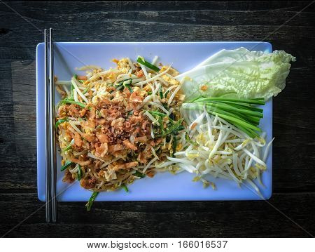 Pad Thai Or The Thai Style Noodle