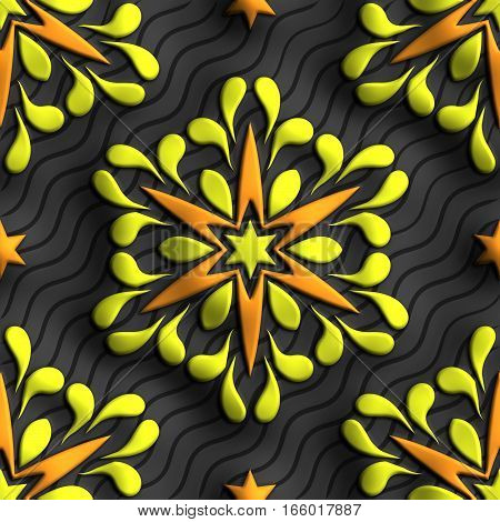 3D Rendering Of Plastic Background Tile