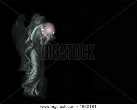 Angel In The Darkness With Room For Poem Or Text