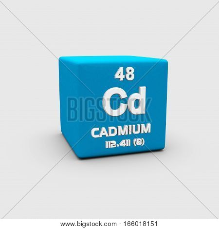 Cadmium is a chemical element with symbol Cd and atomic number 48.