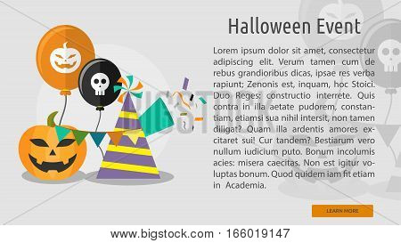 Halloween Event Conceptual Banner Great flat design illustration concepts for halloween, holiday, horror, night and much more.