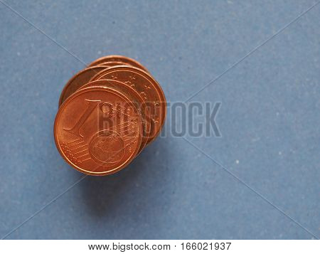 1 Cent Coin, European Union, With Copy Space