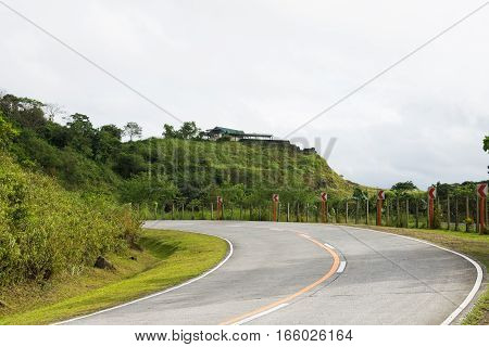 a blind curve roads in Rizal, Philippines