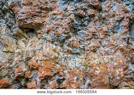 Close-up background made of grey rock texture