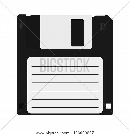 Vector floppy disk icon. Information carrier flat icon.