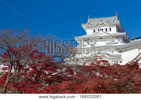 Himeji Castle in Hyogo Kansai Japan in Autumn season