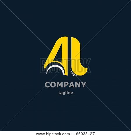 The letters A and L for the logo of the company. Vector illustration