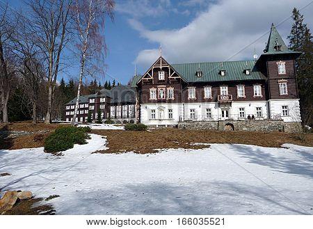 mountain building, landscape Jeseniky, Czech Republic, Europe
