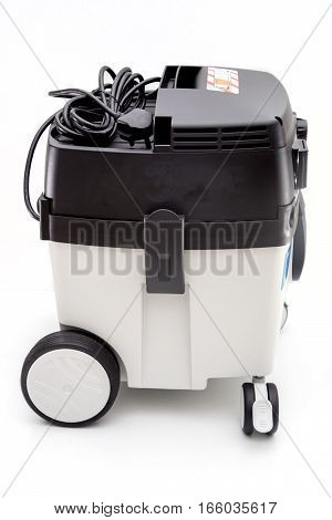 industrial vacuum cleaner isolated on white backgroung.