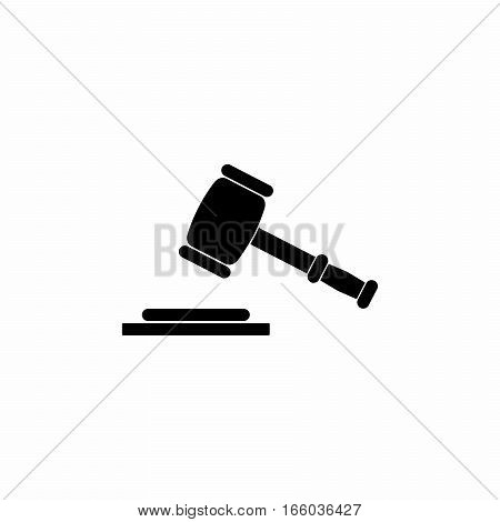 Justice or auction symbol vector design isolated on white background