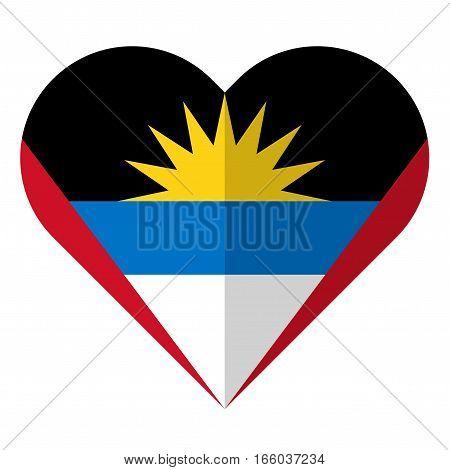 Antigua And Barbuda Flat Heart Flag
