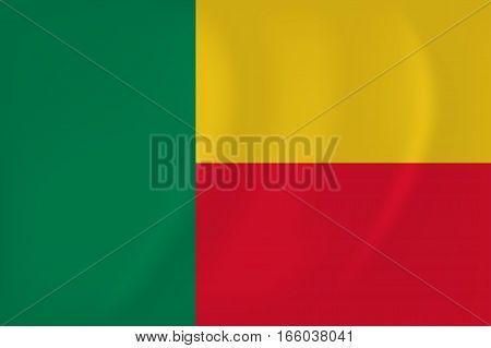 Benin Waving Flag