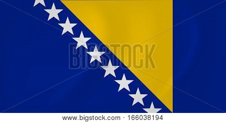 Bosnia And Herzegovina Waving Flag