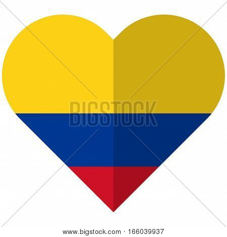 Colombia Flat Heart Flag