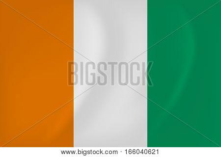Cote D Ivoire Waving Flag