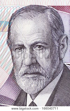 Sigmund Freud portrait from Austrian money - 50 Schilling