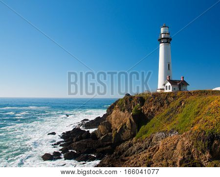 Pigeon Point Lighthouse On Highway No. 1, California