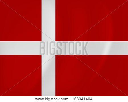 Denmark Waving Flag
