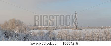 Landscape In Beginning Of Winter
