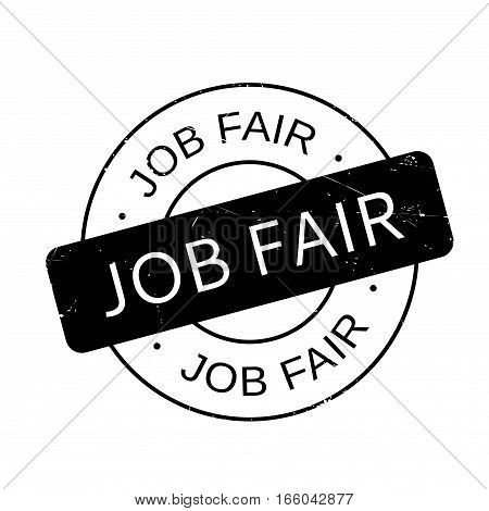 Job Fair rubber stamp. Grunge design with dust scratches. Effects can be easily removed for a clean, crisp look. Color is easily changed.