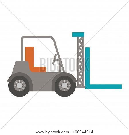 forklift truck with forks icon vector illustration