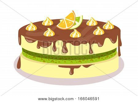 Birthday Cake Images Vektor ~ Delicious cake festive cake web vector photo bigstock