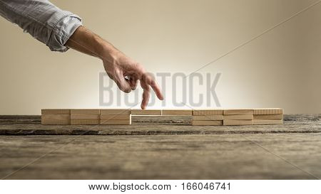 Walking Over Fragile Bridge Business Concept