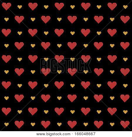 Vector Valentines Day Seamless Pattern
