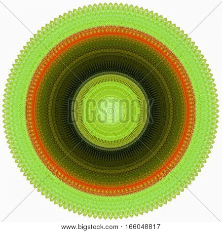 circular shape abstract photo with rooster theme isolated on white background
