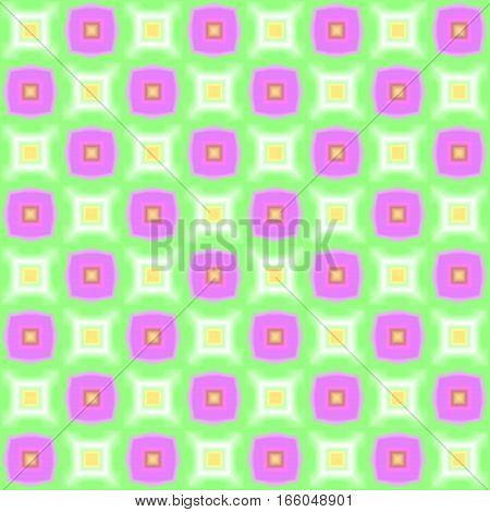 Abstract simple purple and green colorful tiled checked pattern.  Multicolor tile texture background. Seamless illustration.