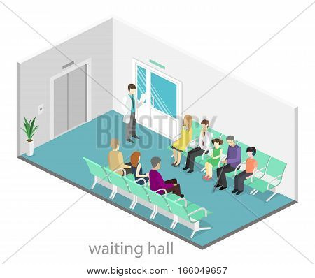 Waiting Room In Hospital.