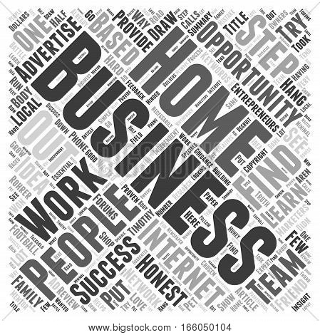 Honest Home Based Business Review Word Cloud Concept