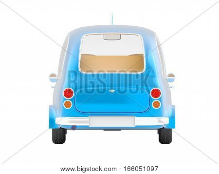 Round Small Car Blue Back