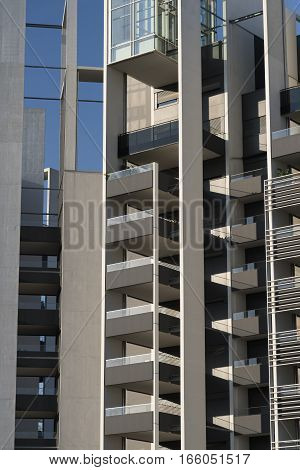 MILAN, ITALY - AUGUST 27, 2016: Milan (Lombardy Italy): modern residential buildings in the new Portello area