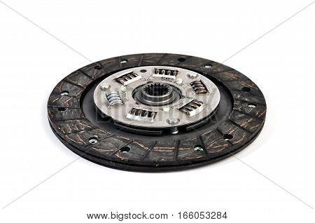 The new clutch disc under the white background isolated