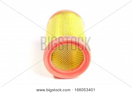 Car paper air filter of the engine or passenger compartment with a silicone sealant
