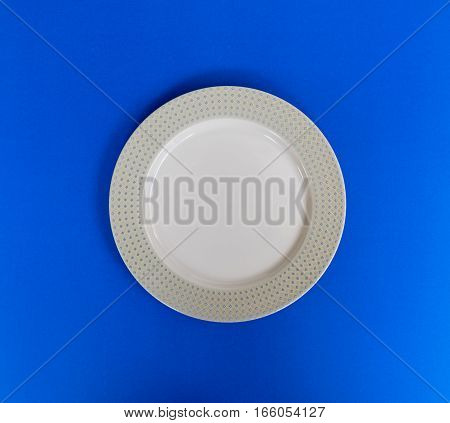Modern empty plate pattern blue background,green abstract